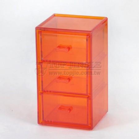 直立三格小抽置物盒
