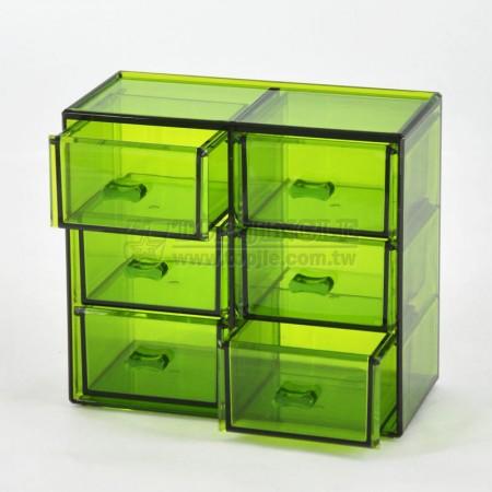 直立六格小抽置物盒