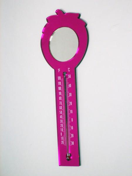 可磁吸的草莓造型溫度計,鏡子