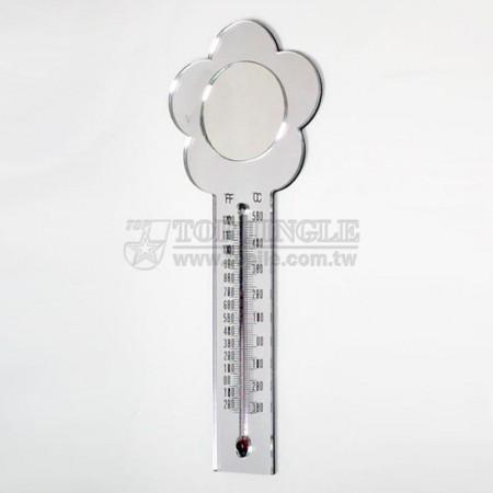 可磁吸的梅花造型溫度計,鏡子