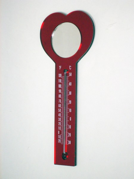 可磁吸的心型溫度計,鏡子