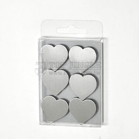 不鏽鋼心型磁鐵6件組
