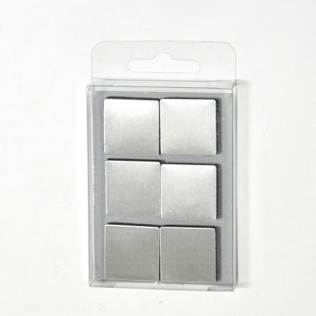 不鏽鋼方形磁鐵6件組