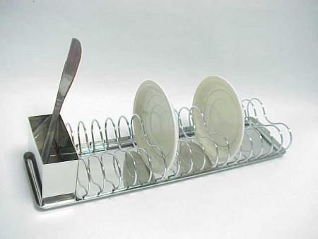 迷你長方型鐵線碗碟架