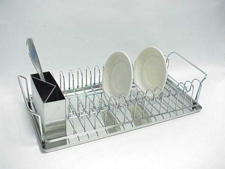不鏽鋼長方型簡單型盤架