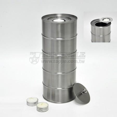 不鏽鋼燭台爐,圓蓋 (大)