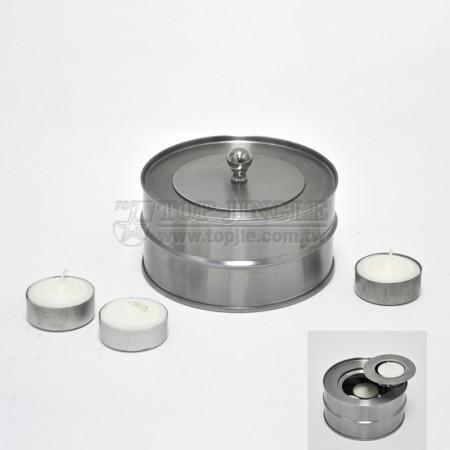 不鏽鋼燭台爐,圓蓋 (小)