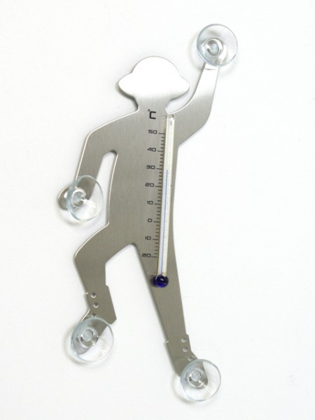 登山客造型吸盤溫度計