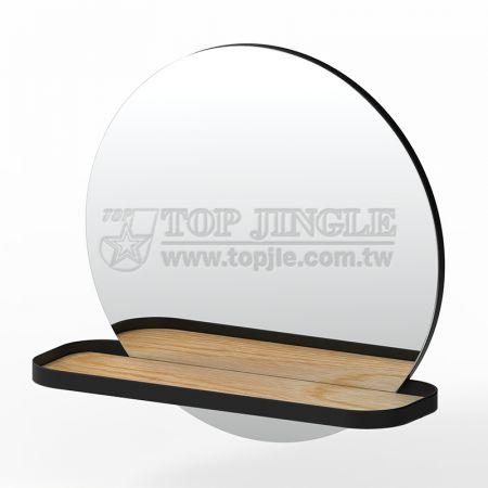 Подвесное зеркало круглой формы