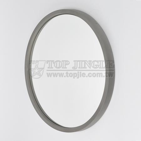 Бетонное подвесное зеркало круглой формы