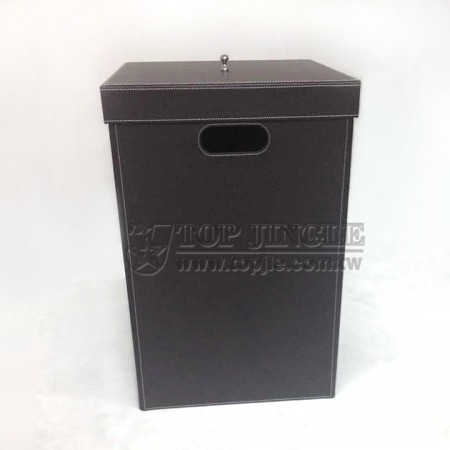 Foldable Leather Laundry Bin