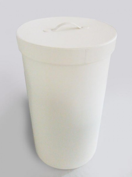 Cylinder White Laundry Hamper