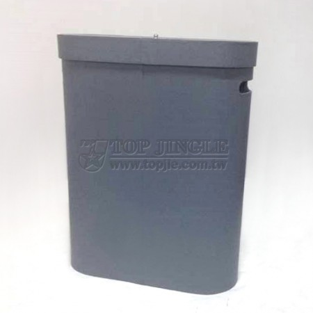 Anthracite Leather Laundry Hamper