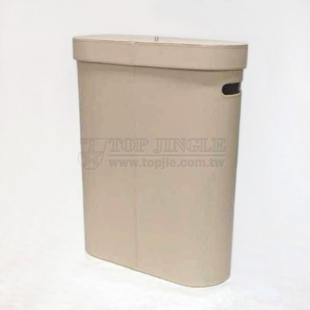 Beige Leather Laundry Hamper