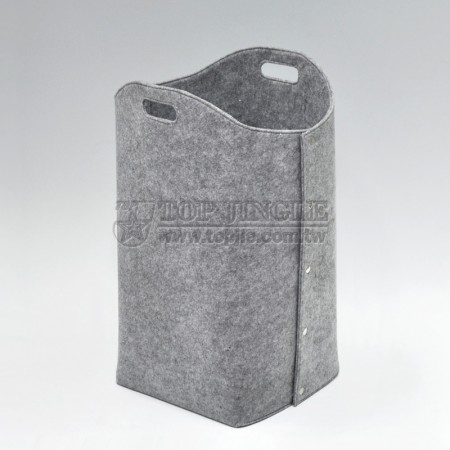 Grey Felt Laundry Hamper