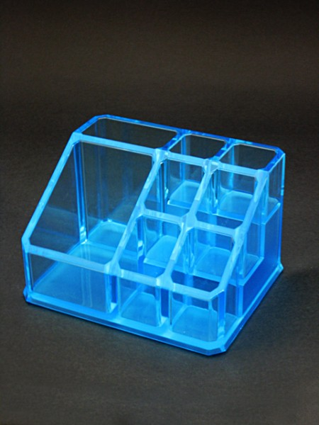 Blue Cosmetic Display Stand