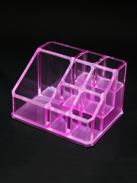 Pink Cosmetic Display Stand
