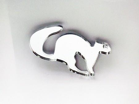 Mirror Acrylic Squirrel Magnet