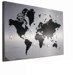 Tablero de notas del mapa mundial