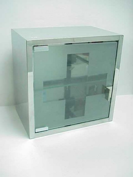 Square Stainless Medicine Cabinet