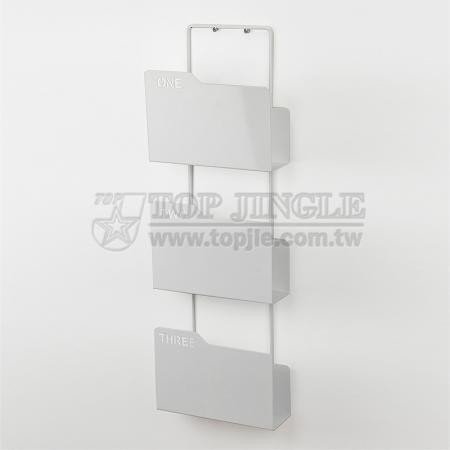 Porte-revues à 3 niveaux