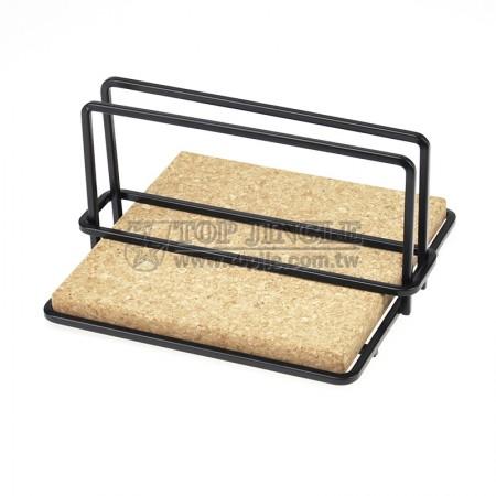 角線軟木造型餐巾紙架