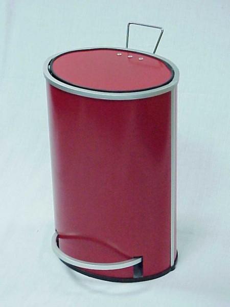 Kırmızı Oval Pedallı Çöp Kovası