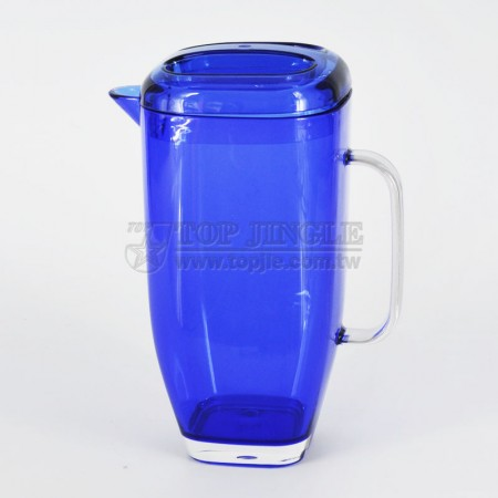 Blue Acrylic Water Pitcher