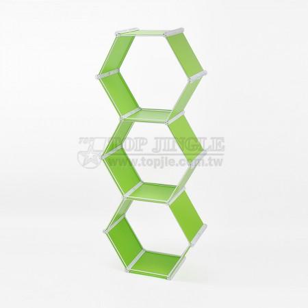 3-сторонние шестигранные полки