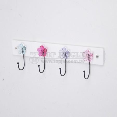 Flower Shaped 4 Hooks