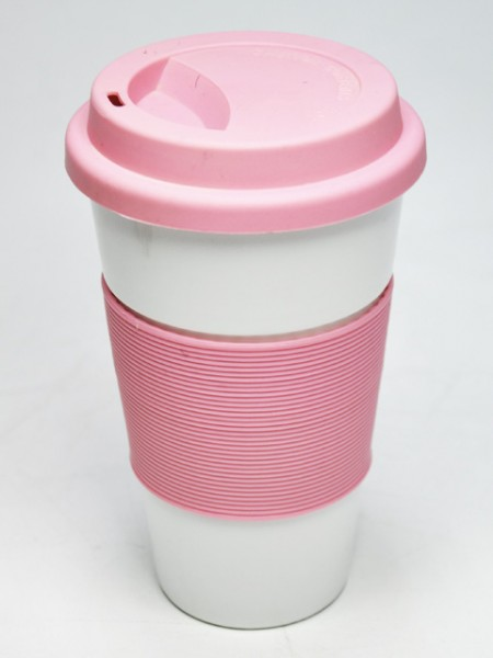 Pink Conical Reusable Cup