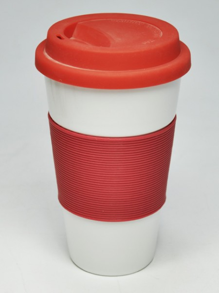Red Conical Reusable Cup