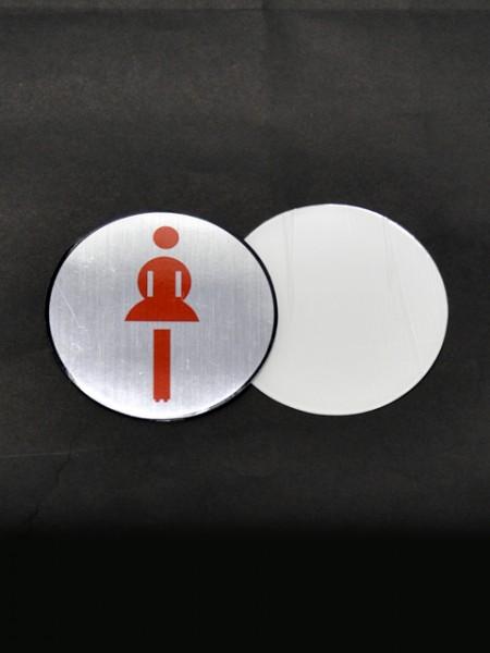 Плакат с рисунком женского туалета