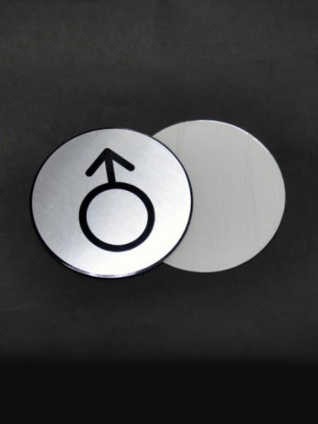 Плакат с рисунком мужского знака