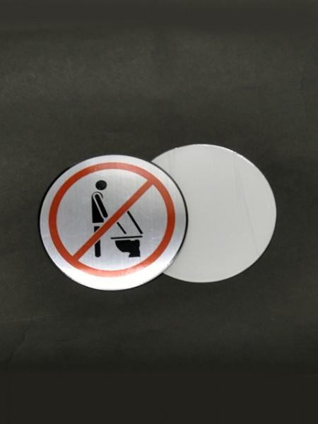 Табличка с запрещенным рисунком мочеиспускания
