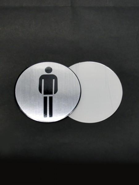 Плакат с рисунком мужского туалета