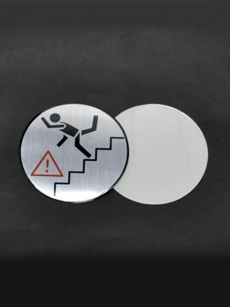 Табло с предупреждающим шаблоном лестницы