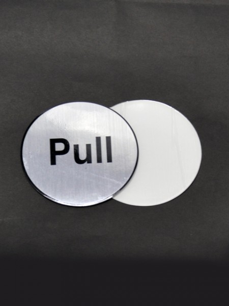 Pull Sign Pattern Placard