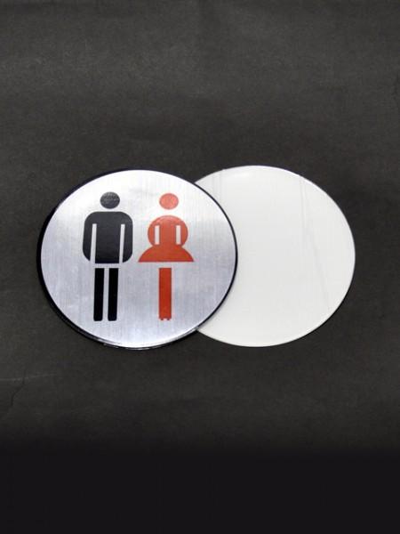 Табличка для туалета для мужчин и женщин