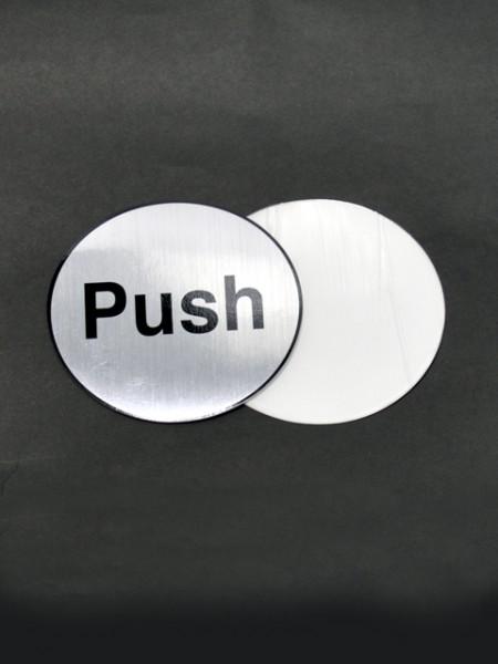 Push Sign Placard