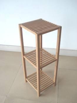 Бамбуковые трехуровневые полки