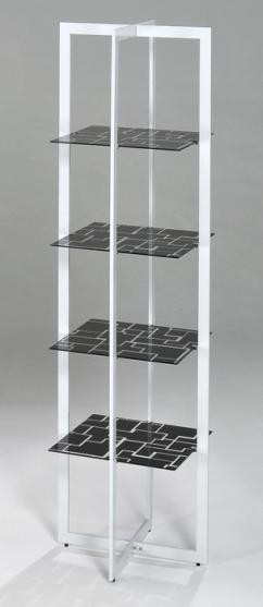4 Tier Red Shelf