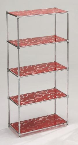 5 Tier Red Shelf
