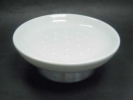 丸い形の石鹸皿