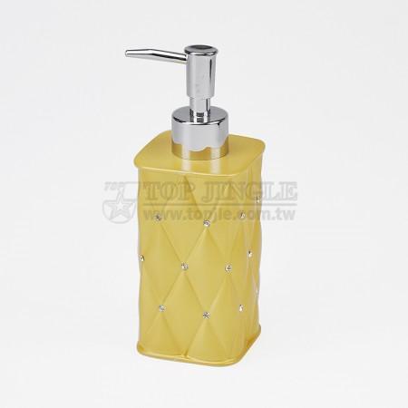 菱格紋鑲鑽造型四方乳液罐