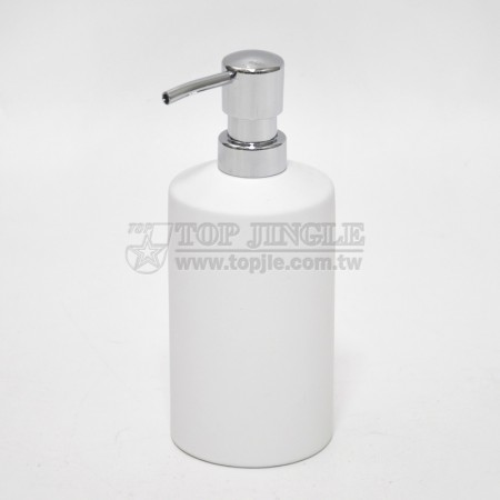 White Cylinder Soap Dispenser