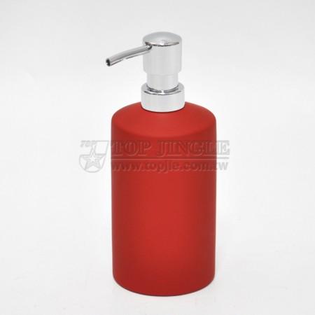 Red Cylinder Soap Dispenser