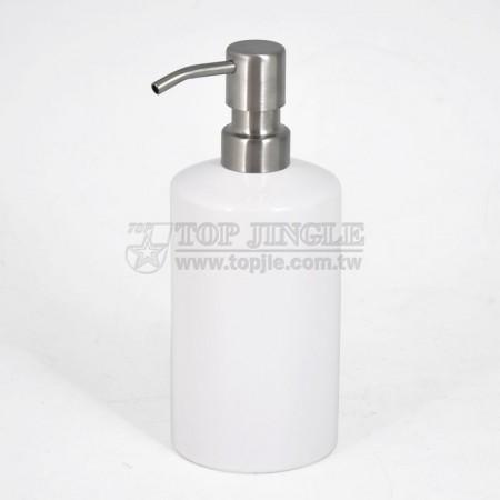 Дозатор для мыла с белым цилиндром