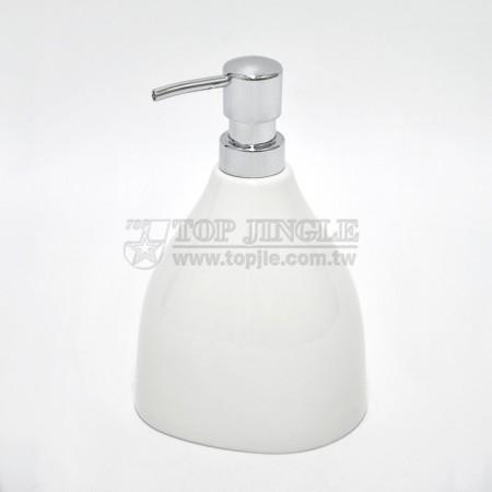 Glazed White Soap Dispenser