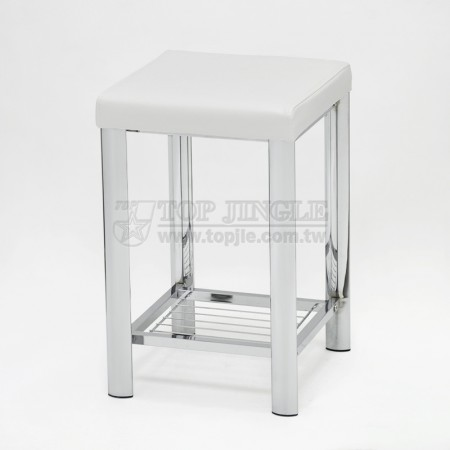 Square Single Bathroom Stool